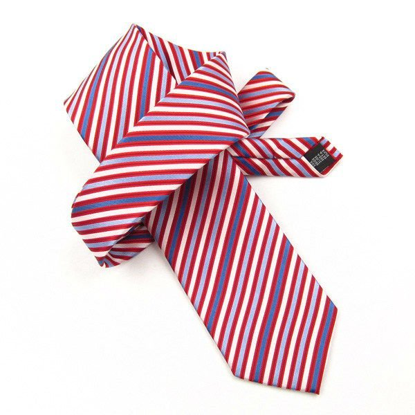 Comprueba la moda corbata de seda, corbata