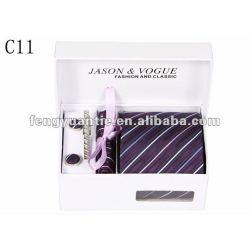 Silk stripe gravatas de marca