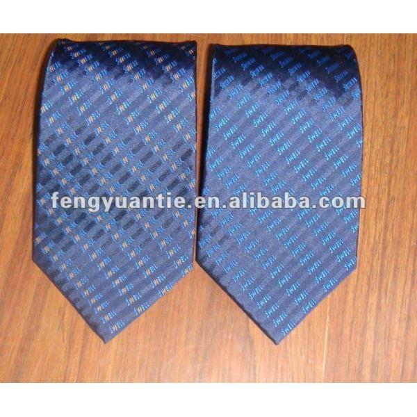 cravates faites sur commande tissées en soie de logo de marine