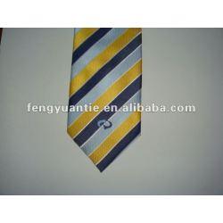 Stripe tecido personalizado logo gravata de seda