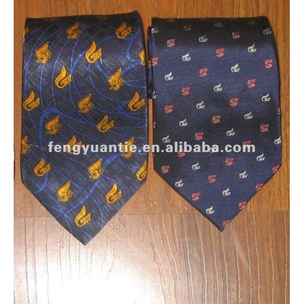 banda de tejido de poliéster personalizado logo corbata
