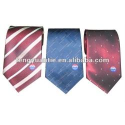 dentelez la cravate en soie tissée par soie vérifiée de logo fait sur commande