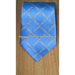 rosa controllato di seta tessuta logo personalizzato cravatta di seta