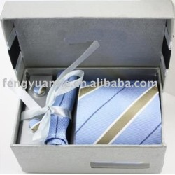 Popular jogo do presente, luxo tie set, gravata de seda set