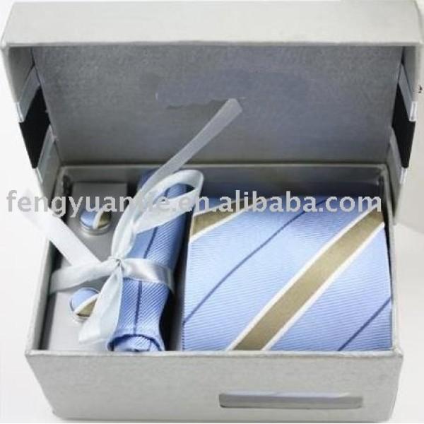 ensemble populaire de cadeau, ensemble de luxe de cravate, ensemble de cravate en soie