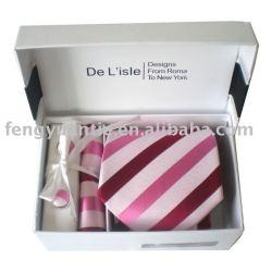 Conjunto de corbata, corbata de seda conjunto, set de regalo