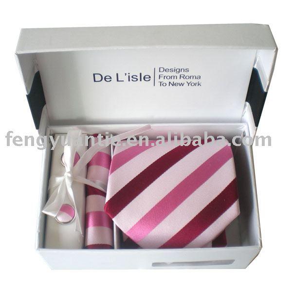 ensemble de cravate, ensemble en soie de cravate, ensemble de cadeau