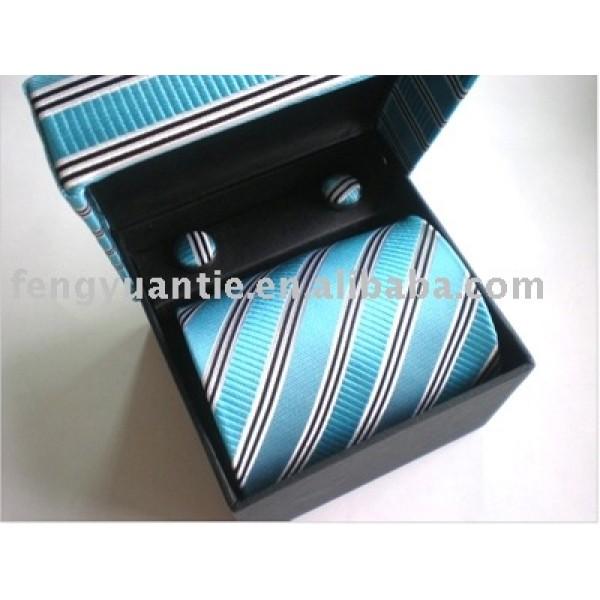 popular corbata de seda con conjunto de gemelos