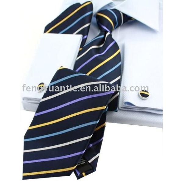 ensemble de cadeau de raie, ensemble de luxe de cravate, ensemble de cravate en soie