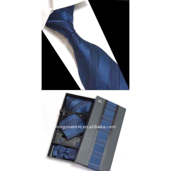 corbata de seda conjunto