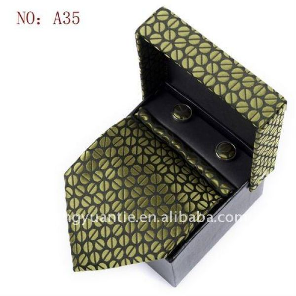Para hombre 100% estilo italiano de seda corbata set