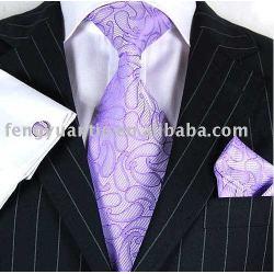 Para hombre de moda corbata de seda, corbata