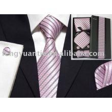 corbata de seda tejido conjunto