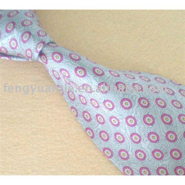 corbata de seda impresa
