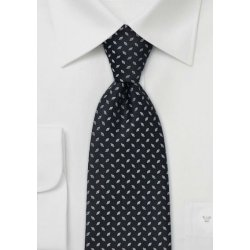 tejido negro de seda corbatas