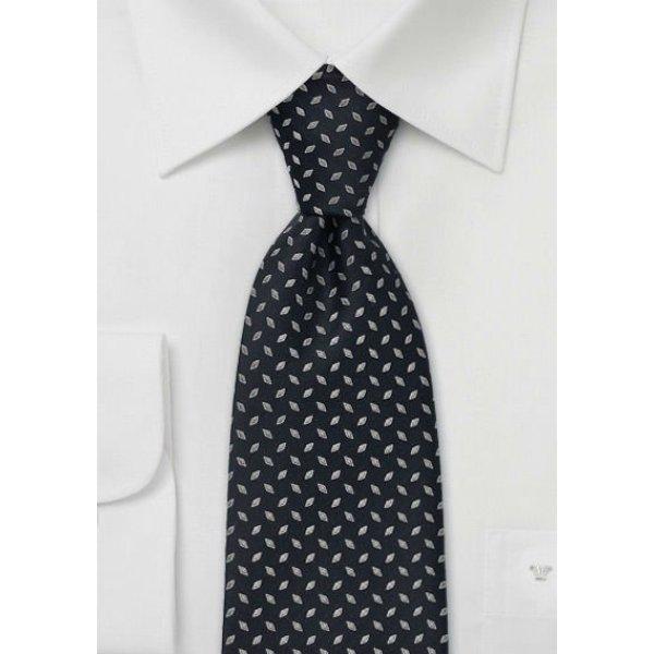 cravates en soie noires tissées