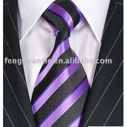 cravate tissée par polyester