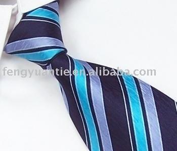 gesponnene Krawatte des Streifens Polyester