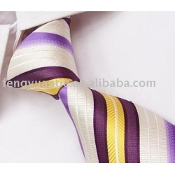corbata de poliéster tejido