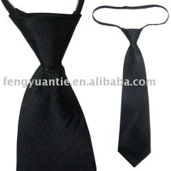 Poliéster zipper gravata lisa