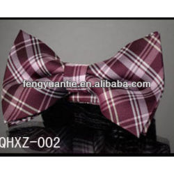 stylish mens formal checked bowtie,self bowtie silk bow tie