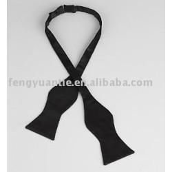 microfiber black self tie bowtie