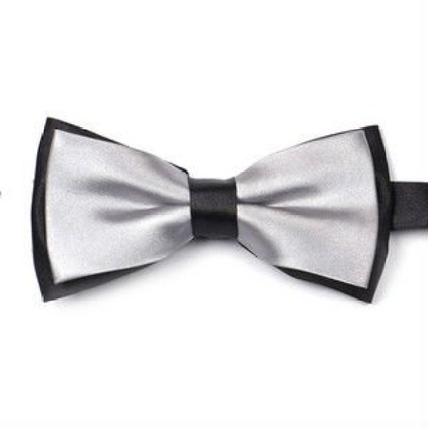 100% silk self bowtie, bow tie necktie
