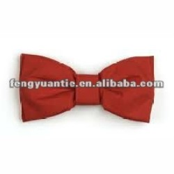 Red polyester satin men bowties