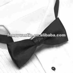 plain black bow tie