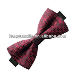 Green mens 100% silk woven high quality bow tie