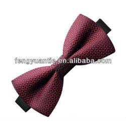 Cravate d'arc tissée par soie verte de qualité du mens 100%