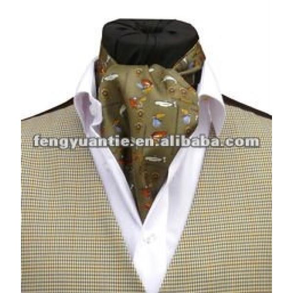 llanura de color verde manzana ascot de seda corbata corbata