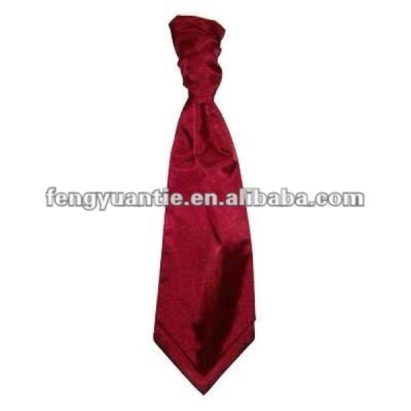 llanura de color burdeos scrunchie para hombre ascot cravat