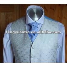 pianura luce blu ascot di seta cravatta cravatta
