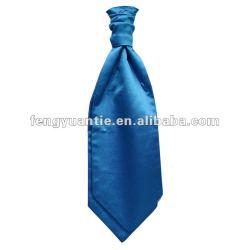 cravate en soie vert pomme plate de foulard d'ascot