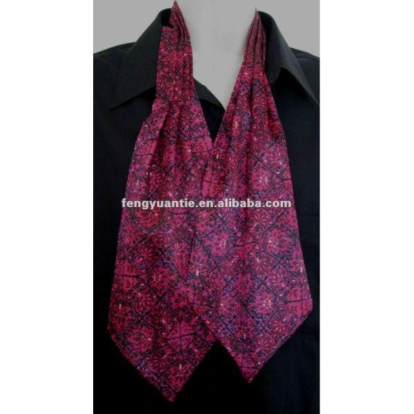 Llanura de manzana verde de seda pañuelos cuello/cravates ascot