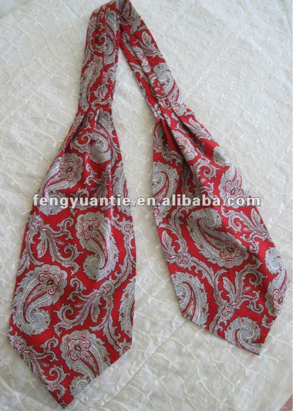 Planície de maçã verde de seda de gravata gravata