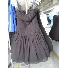 venta caliente negro de seda vestido de noche vendaje