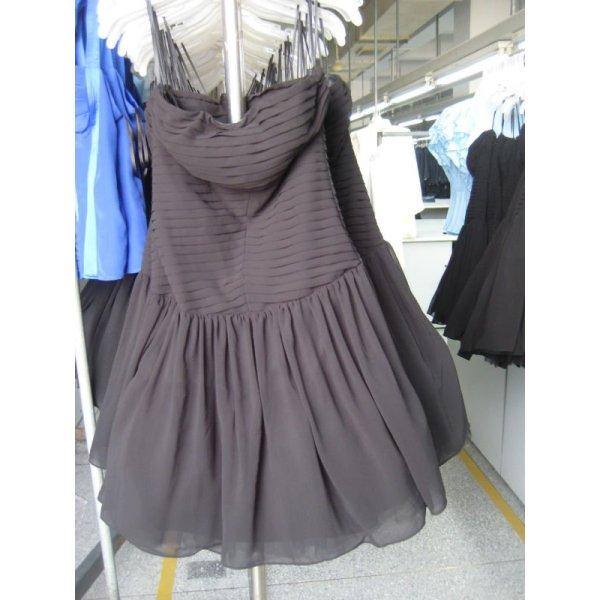 vendita calda nero di seta abito da sera benda