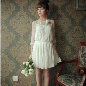 heiße Verkauf ladys Chiffon- beiläufige dresss