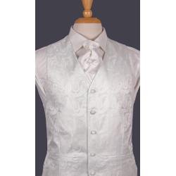 white paisley 100 mixed wedding waistcoat manufacturer