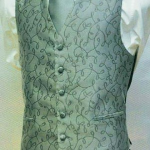 100% polyester white wedding vest and tie