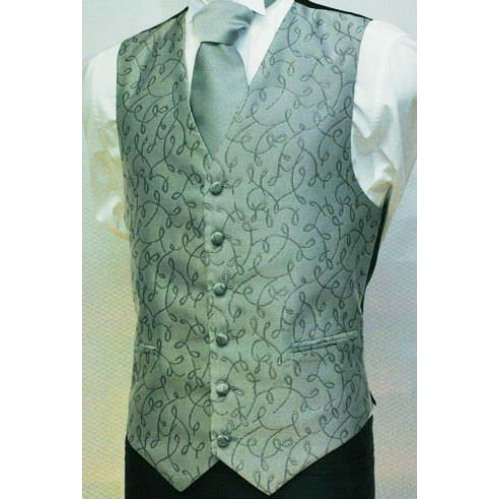 100 Polyester White Wedding Vest And Tie