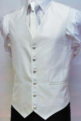 100% polyester white casual vest
