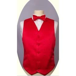 Cheap mens polyester red silk waistcoat