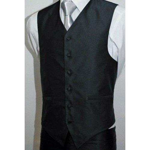 Cheap black waistcoat men's