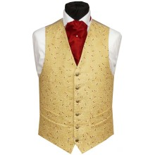 Mens gold wedding silk vests