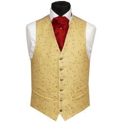 Mens gold wedding silk vests
