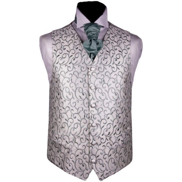 Mens wedding  green  vest