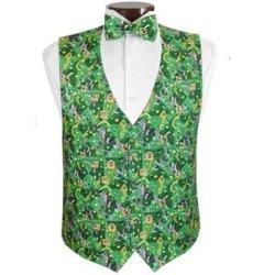 waistcoat designs men's printed vest